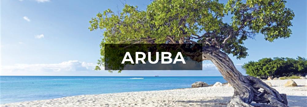 Aruba white sand beach.