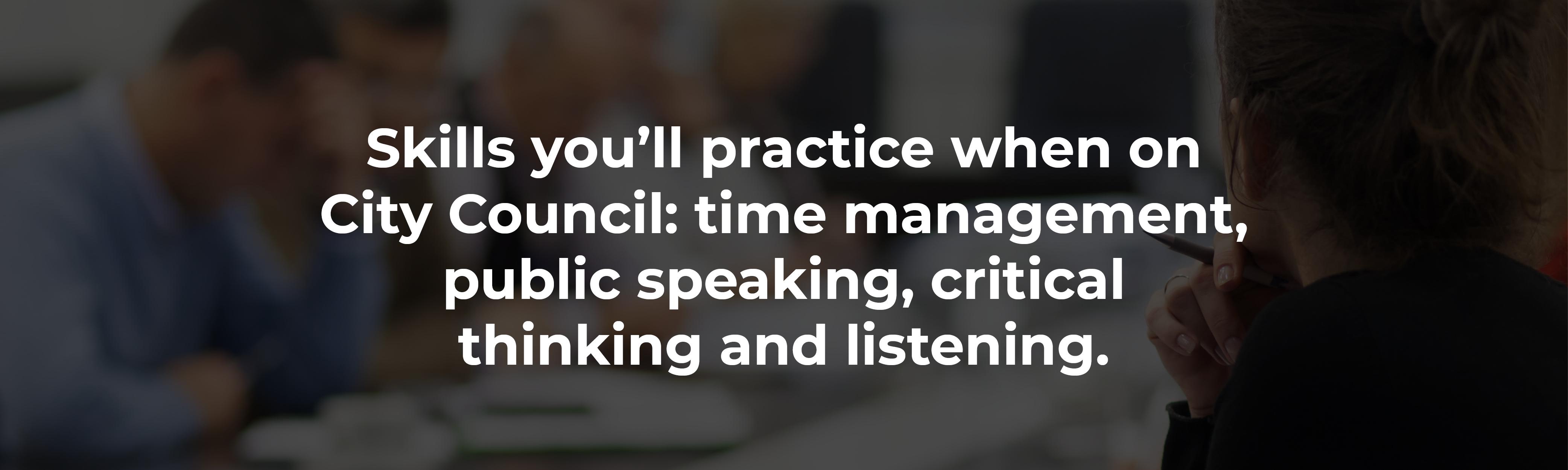 City Council skills
