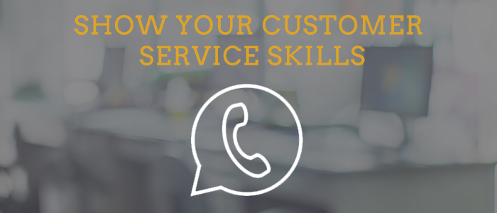 make a great first impression with customer service skills